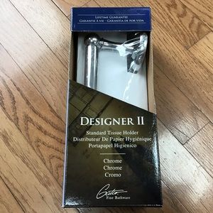 Designer II Standard Chrome Toilet Tissue Holder